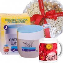 Olay Night Cream with Dry Nuts & Best Aama Printed Mug