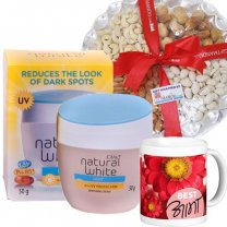 Olay Natural White Cream with Dry Nuts & Best Aama Printed Mug