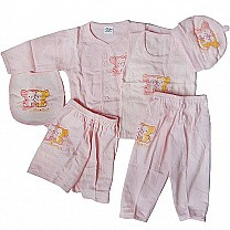 Baby Clothes Set For New Born Baby (6 items) - Pink