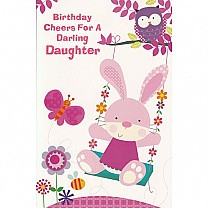 Birthday Cheers For A Darling Daughter - Greeting Card