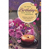 On Your Birthday With Warm Thoughts - Greeting Card