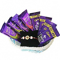 Chocolate Basket With Rakhi Thread