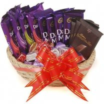 Cadbury Chocolate Combo With Gourmet Chocolate Basket (12 item)