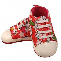 Cute Light Red Converse Shoe For Girls (9-12 months)