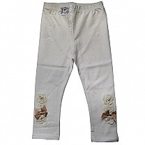 Cotton Leggings for Kids (Cream Color) (KAP-9003)