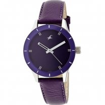 Fastrack Metal Case Purple Dial Analog Watch for Women (6078SL05)