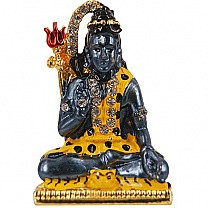 Metal Shiva Ji With Stone