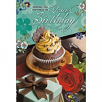 Wishing You Happiness On Your Birthday - Greeting Card (GC-5387)