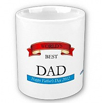 Best Dad Coffee Mug (Red Ribbon Design)