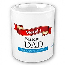 World's Bestest Dad (Ribbon Design)