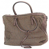 Stylish Ladies Bag - Front Square Line Printed (Brown)