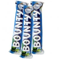 Bounty X 3 Chocolate Bars (Coconut Covered Milk Chocolate)