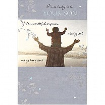 Son to Dad - I'm So Lucky To Be Your Son Greeting Card