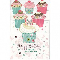 Happy Birthday From All of Us - Greeting Card