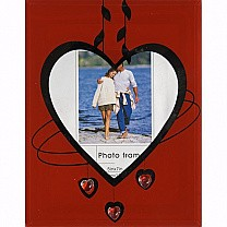 Heart Glass Table Top Photo Frame