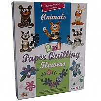 2 in 1 Paper Quilling - Animals and Flowers