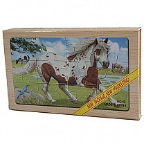 4 in 1 Wooden Picture Puzzles of Domestic Animals