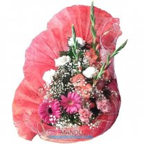 Simply Elegant - Mix Flowers Basket (Gerbera, Carnations, Gladiolus)