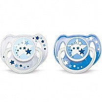 Philips Avent Night Time Soothers 6-18 Months