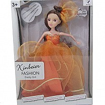 Xinbeier Fashion Pretty Girl Doll (Orange Dress)