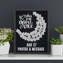 I Love You To The Moon & Back Personalize Photo Frame (14'' x 18'')