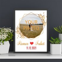 Personalize Name & Date Love Photo Frame (12'' x 15'')