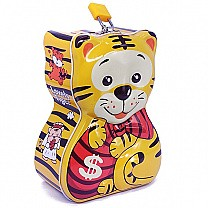 Tiger Design Piggy Bank For Kids 6.5'' - Yellow