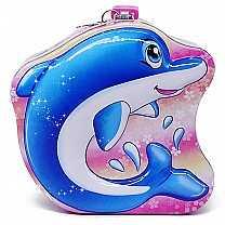 Dolphin Design Money/ Coin Box For Kids 5.5''