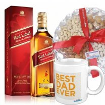 JW Red Label Whisky With Mug & Nuts