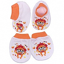 Pairs Of Baby Booties & Gloves - Orange