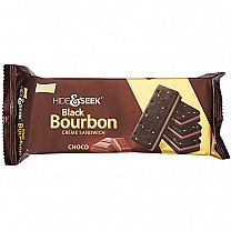 Parle Hide & Seek Black Bourbon Choco Sandwich Biscuits 100gm