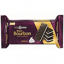 Parle Hide & Seek Black Bourbon Vanilla Sandwich Biscuits 100gm