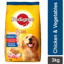 Pedigree Chicken & Vegetables Dry Dog Food 3Kg
