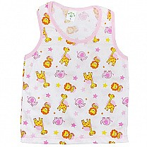 Pink Cotton Sendo Vest For Baby (Size M & L)