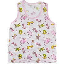 Pink Cotton Sendo Vest For Baby (Size XL)