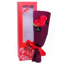 Red Soap Rose Bunch In Beautiful Box 14''