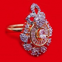 Attractive White Stone Studded Ladies Ring