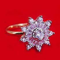 White Stone Studded Fancy Party Wear Ring