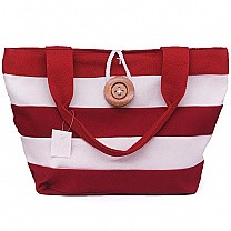 Red & White Stripes Ladies Cloth Bag