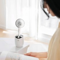 Table Top Rotary Spray Fan Humidifier - Black & White