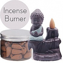 Buddha Backflow Incense Burner (Incense Box Included)