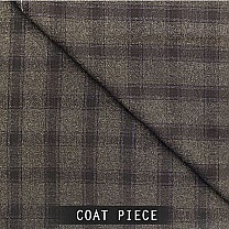 Sangam Suitings Mens Plaid Coat Piece - Blue