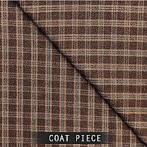 Sangam Suitings Stylish Brown Windowpane Design Coat Piece