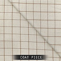 Sangam Suitings Check Pattern Coat Piece - CreamSangam Suitings Check Pattern Coat Piece - Cream