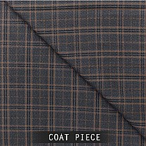 Sangam Suitings Coat Piece - Windowpane Check Pattern