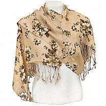 Stylish Flower Printed Ladies Summer Scarf