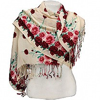Rose Printed Beautiful Ladies Summer Scarf