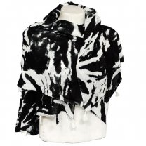 Black & White Attractive Scarf For Ladies