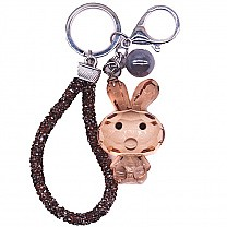 Attractive Mini Rabbit Key-ring (Brown)