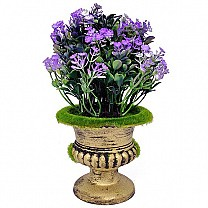 Artificial Purple Spring Flowers in a Decorative Vase
